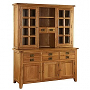 Vancouver Premium Oak Dresser & Glazed Top