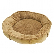 40 Winks Tan Plush Wrap Around Oval Dog Bed