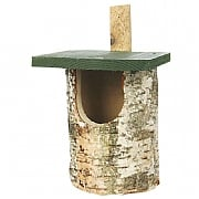 Open Birch Log Nest Box
