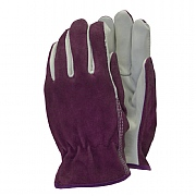 Premium Leather Ladies Gardening Gloves Red - Medium