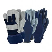 Town & Country Mens Triple Pack Gloves - Navy Blue