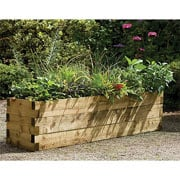 Treated Caledonian Wooden Raised Bed - 180cm x 45cm x 45cm