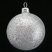 Gisela Graham Silver Glitter Bauble - 70mm
