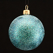 Peacock Glitter Bauble 70mm