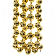 Decoris Light Gold XXL Plastic Bead Garland 2.7m