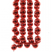 Decoris Christmas Red XXL Plastic Bead Garland 2.7m