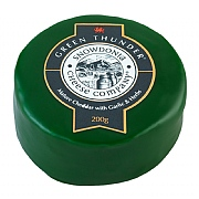 Green Thunder Mature Cheddar with Garlic & Herbs Truckle 200g