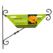 Heavy Duty Hanging Basket Bracket 35cm Black