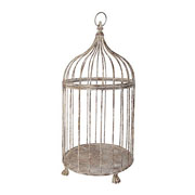 Aged Metal Birdcage - Large