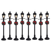 Lemax Gas Lantern Street Lamp Set of 8