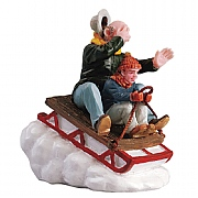 Lemax Sledging with Gramps