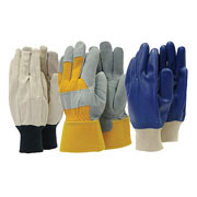 Mens Triple Pack Gardening Gloves