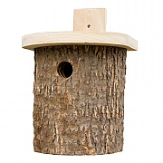 Wildlife World Natural Log Tit Nesting Box
