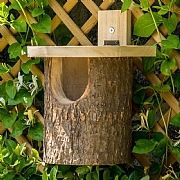 Wildlife World Natural Log Robin Nesting Box