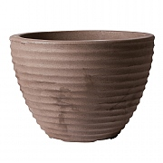 Stewart Garden Low Honey Pot Planter 37cm - Dark Brown