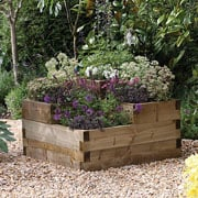 Treated Caledonian Tiered Raised Bed - 60cm x 90cm x 90cm