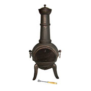 Granada Cast Iron & Steel Chimenea - 112cm