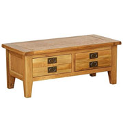 Vancouver Petite Oak  2 Drawer Coffee Table (NB052)