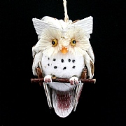 Gisela Graham Natural Cone Owl 7cm