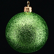 Gisela Graham Lime Green Glitter Ball - 70mm
