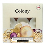 Wax Lyrical Colony Gold, Frankincense & Myrrh 9 Tealights
