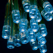 20 Blue Battery Operated LED Lights