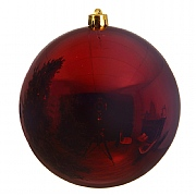 Decoris Bordeaux Shatterproof Bauble 14cm