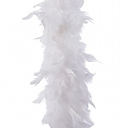 Decoris White Feather Boa Garland