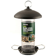 Large Black Steel Seed Feeder