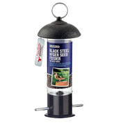Black Steel Nyger Seed Feeder