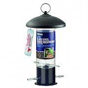 Large Black Steel Nyger Seed Feeder