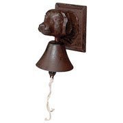 Cast Iron Dogs Head Doorbell