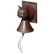 Cast Iron Cats Head Doorbell