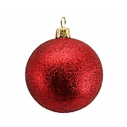 Cherry Red Glitter Bauble 70mm