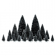 Lemax Assorted Pine Trees - 21 pieces
