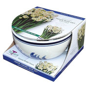Narcissi Bridal Crown Delft Bowl Gift Set