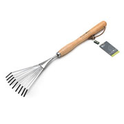 Burgon & Ball RHS Stainless Steel Mid Handled Shrub Rake