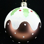 Gisela Graham Christmas Pudding Ball - 80mm