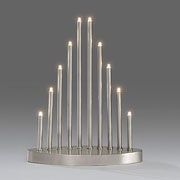 Contemporary Silver LED Welcome Light