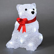 Acrylic LED Sitting Polar Bear