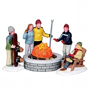 Lemax Fire Pit Set of 5