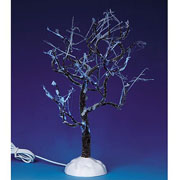 Lemax Lighted Ice Glazed Tree Blue