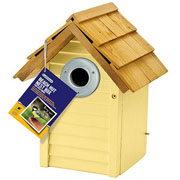 Beach Hut Nest Box - Cream