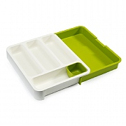Joseph Joseph Drawerstore Expandable Cutlery Tray White & Green