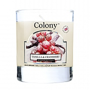 Wax Lyrical Colony Vanilla & Cranberry Candle Glass