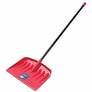 Garland Red Snow Shovel with Metal Handle