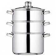 Kitchencraft Stainless Steel 3 Tier Steamer 20cm