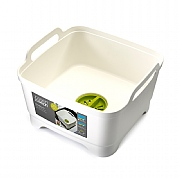 Joseph Joseph Wash & Drain Washing Up Bowl White & Green