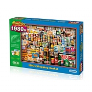 Gibsons 1980's Shopping Basket 1000 Piece Jigsaw Puzzle