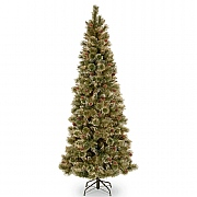 7ft Glittery Bristle Pine Artificial Christmas Tree